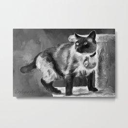 Sulley's Portrait In Black & White Metal Print