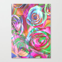 Drunk Roses Canvas Print