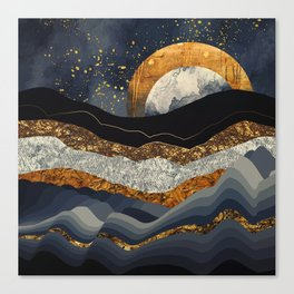 Metallic Mountains Canvas Print