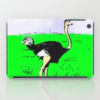 ostrich iPad Cases featuring Ostrich by wingnang