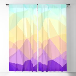 Funky Colorful Jewel Tone Low Poly Gradient Blackout Curtain