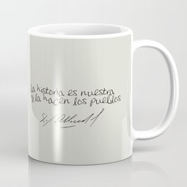 Salvador Allende Lente - TrincheraCreativ Coffee Mug