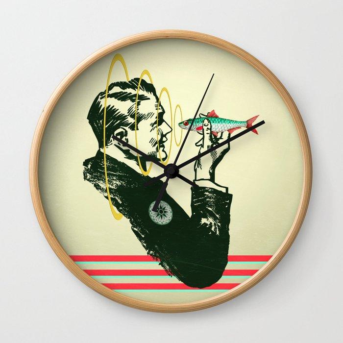 Hypnotic sardine  Wall Clock