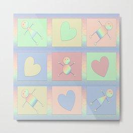Rainbow Peeps Collection Metal Print