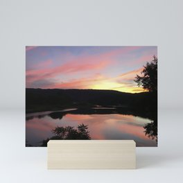 Summer Solstice Sunset Across The Big Eddy Mini Art Print