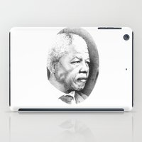 mandela iPad Cases featuring Nelson Mandela by Daniel Point