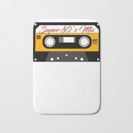 Retro Cassette Tape Design 80's Mix Bath Mat