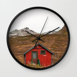 Little Red Cabin Wall Clock