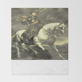 Charles V on his Horse Throw Blanket