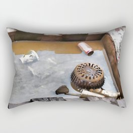Litter on the subway tracks Rectangular Pillow