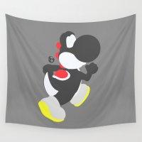 yoshi Wall Tapestries featuring Yoshi(Smash)Black by ejgomez