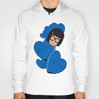 tina fey Hoodies featuring Tina Belcher  by Moremeknow