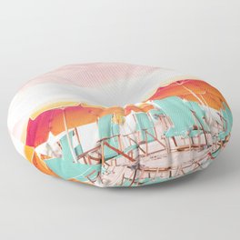 Beach Parasols Floor Pillow