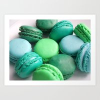 macaroons Art Prints featuring Macaroons by Sara Chergui