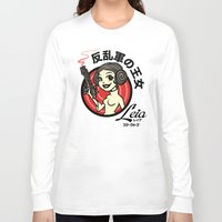 leia Long Sleeve T-shirts featuring Kawaii Leia by Bamboota