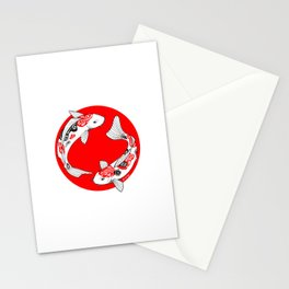 Japanese Kois Stationery Cards