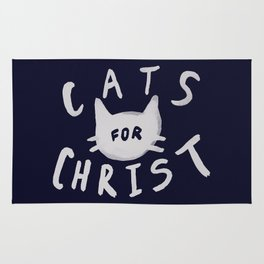 Cats for Christ x Navy Rug