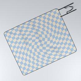 Check II - Baby Blue Twist — Checkerboard Print Picnic Blanket