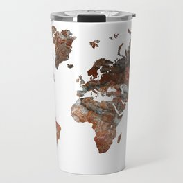 Siena Rosso Marble World Map Travel Mug