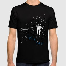 lost in space astronaut Mens Fitted Tee Black X-LARGE