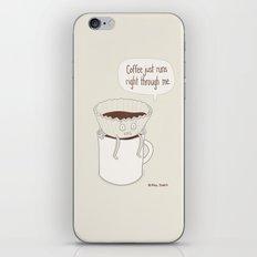 Coffee Runs iPhone & iPod Skin