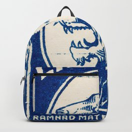 Old Matchbox label #6 Backpack