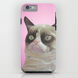 grumpy-cat-pink iPhone Case