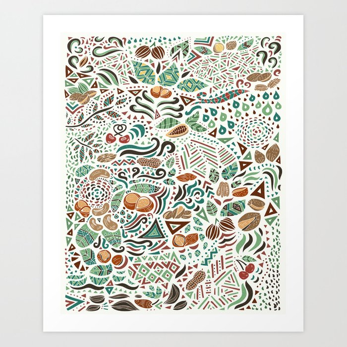Nuts And Nature Art Print