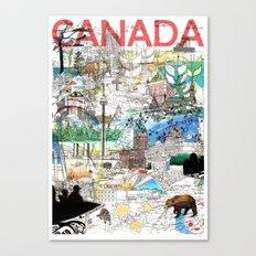 Canada (portrait version) Canvas Print