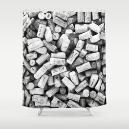 Something Nostalgic II Twist-off Wine Corks in Black And White #decor #society6 #buyart Shower Curtain