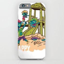 Zombie children on playground iPhone Case