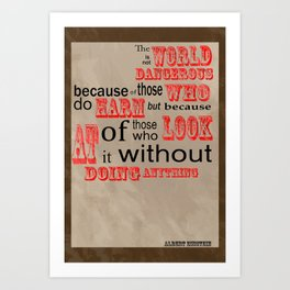 Food for thought-The world we live in Art Print