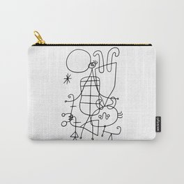 Joan Miro, Figures And Dog In Front Of The Sun, 1949 Sketch Artwork, Men, Women, Kids, Prints, Poste Carry-All Pouch