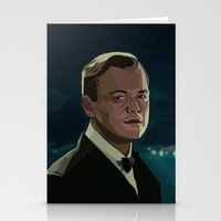 the great gatsby Stationery Cards featuring The Great Gatsby by Vito Fabrizio Brugnola