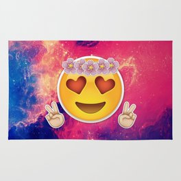 Captivating Hippie Emoji Rug