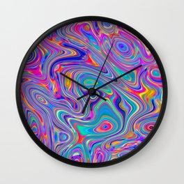 Neon melt Wall Clock