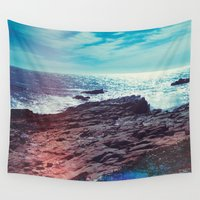 salt water Wall Tapestries featuring Salt Water by Viviana Gonzalez