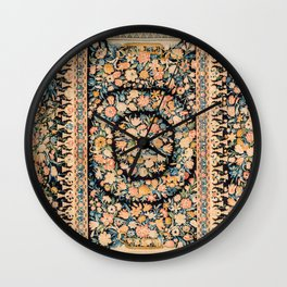 Lourve Carpet // 17th Century French Blue Pink Green Yellow Colorful Ornate Accent Rug Pattern Wall Clock