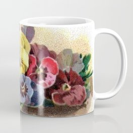 Vintage Pansies Coffee Mug