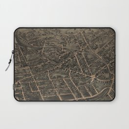 Vintage Pictorial Map of Middletown NY (1874) Laptop Sleeve