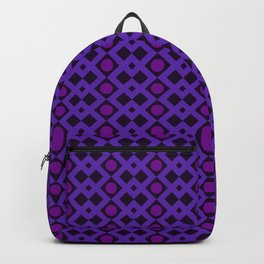 Geometric Design - Purple and Magenta - Diamonds Circles Squares Backpack