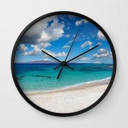 Kastraki beach of Naxos island in Cyclades, Greece Wall Clock