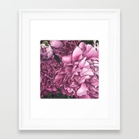 peonies Framed Art Prints featuring Peonies by Jada Fitch