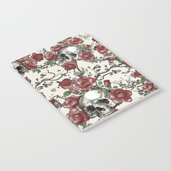 Skulls and Roses or Les Fleurs du Mal Notebook