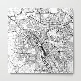 Hanover Map Gray Metal Print
