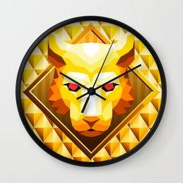 Lion Trophy Mountain 2 Wall Clock