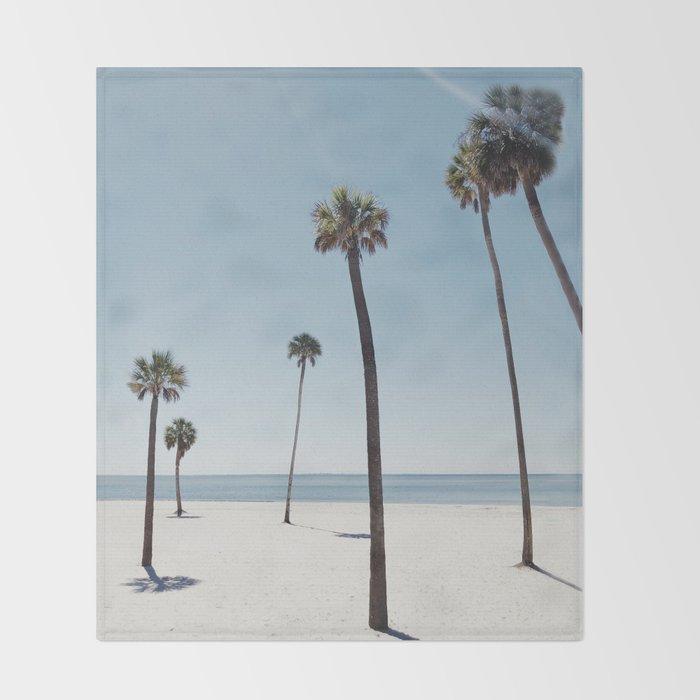 Palm trees 7 Throw Blanket
