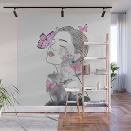 A touch of butterflies. Wall Mural