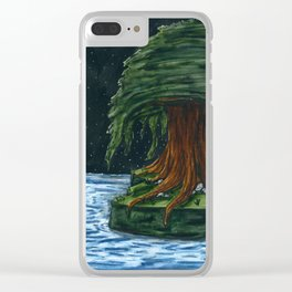 Weeping Willow Clear iPhone Case