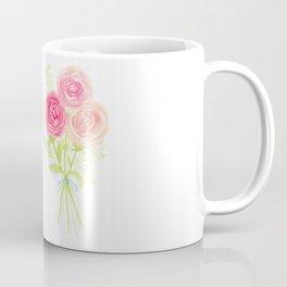 Spring Pastel Pink Flower Watercolor Bouquet Coffee Mug